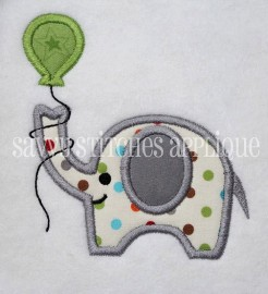 Elephant with Birthday Balloon