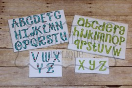 Truly Madly Deeply Bean Stitch Alphabet Set