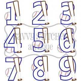 Baseball Number Set
