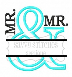 Split And Applique MR./MR.