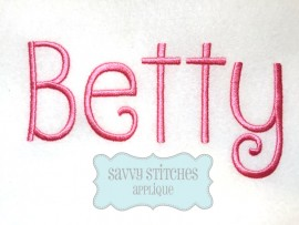 Betty Embroidery Font