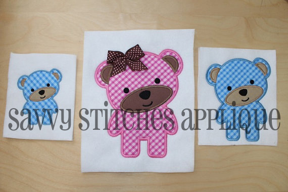 Embroidered teddy bear applique embroidered teddy bear applique