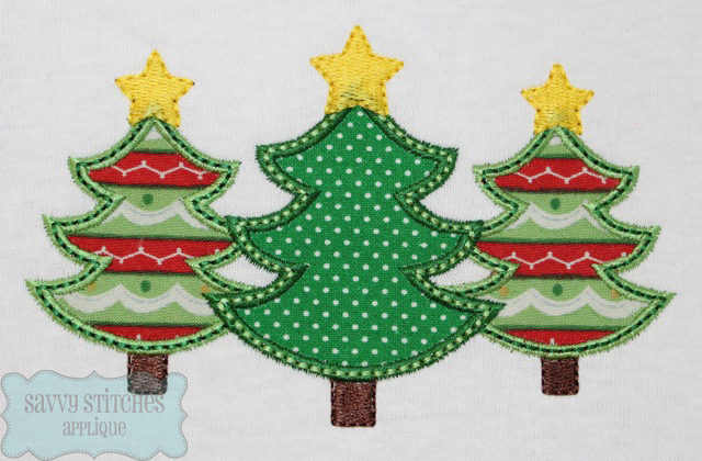 I love trees includes both applique and stitched u blasto stitch